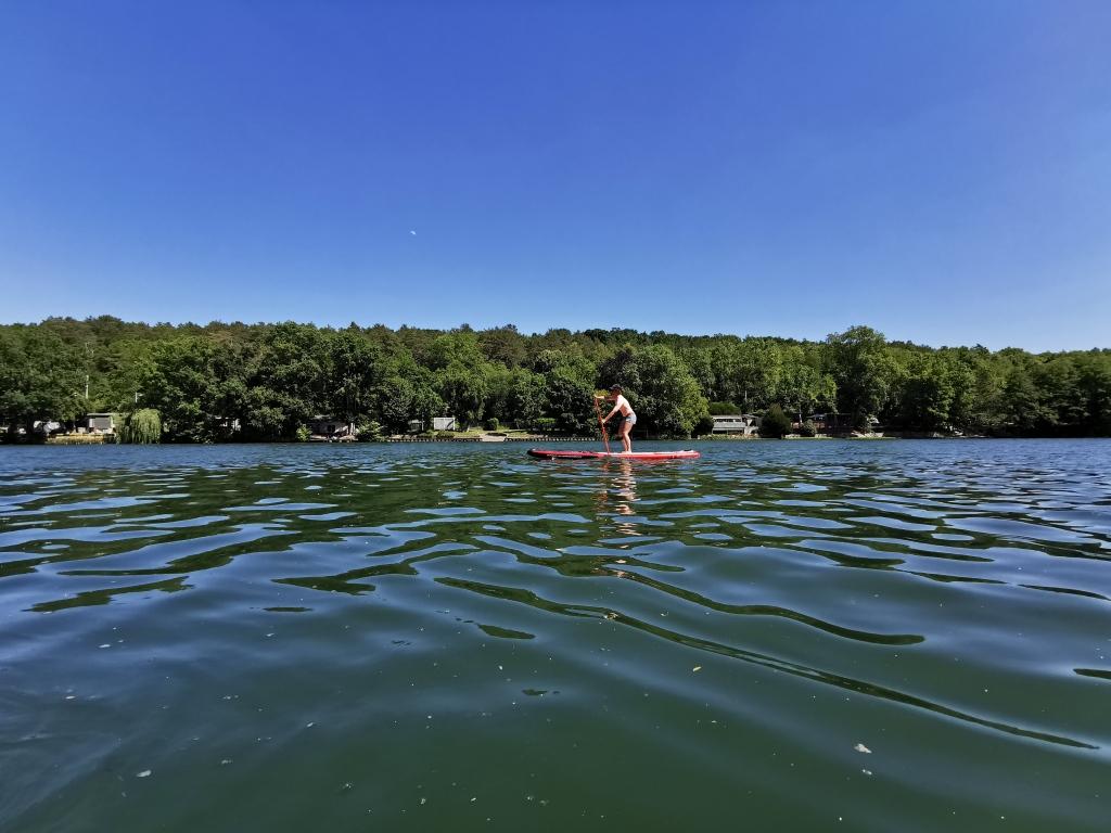 En paddle sur la Seine près de Fontainebleau, à Vulaines-sur-Seine