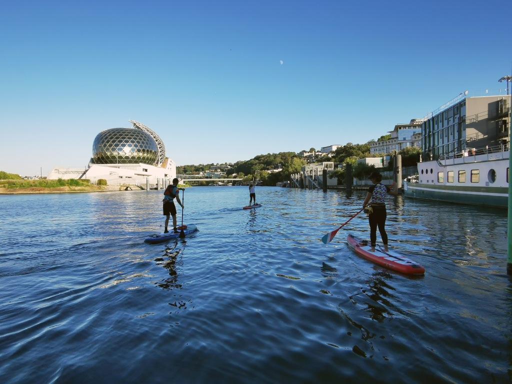 Paddle à Boulogne-Billancourt autour de la Seine musicale et de l'île Seguib