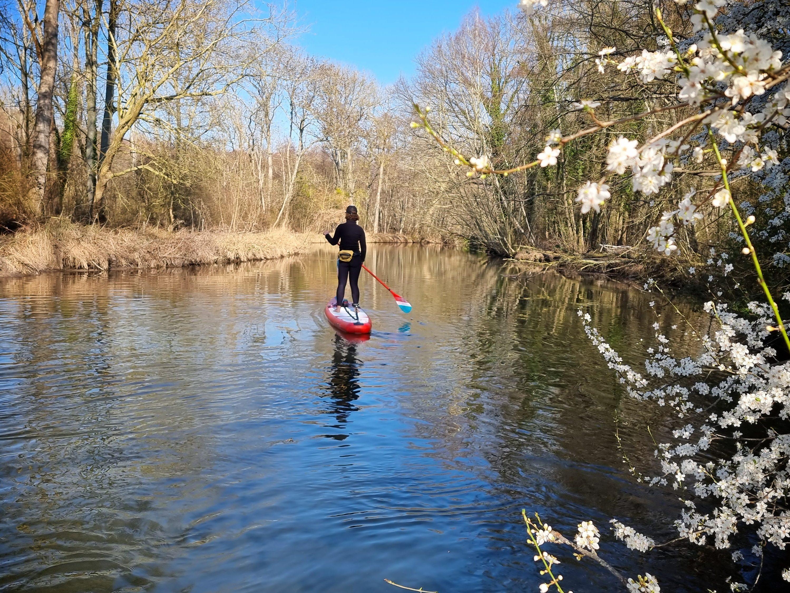 Stand up paddle en Essonne, sur la Juine.